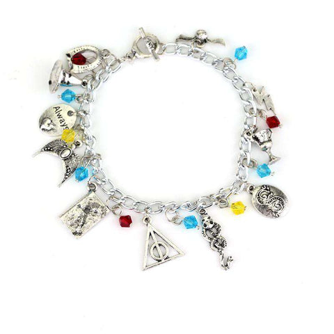 Charm Crystal Bead Pendent Alloy Cool Bracelet for women