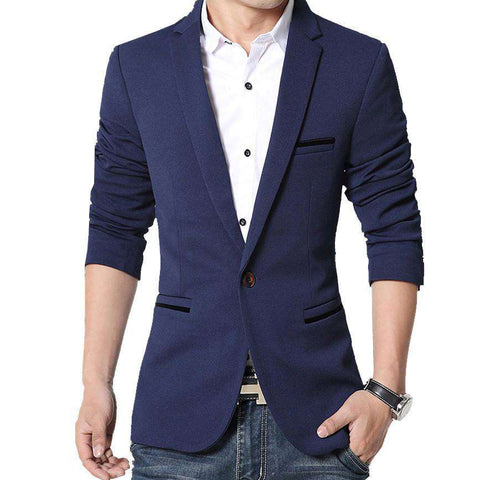Blazer Casual Slim Fit Men's Suit Leisure