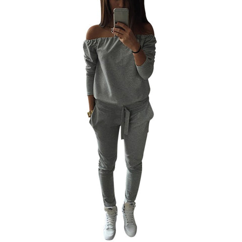 Shoulder Jogger Casual Women jumpsuit