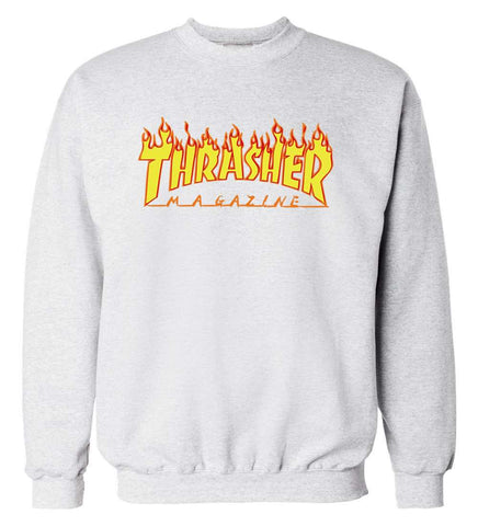 Fleece Trasher Sweatshirts Hip Hop Skateboard Hoodie
