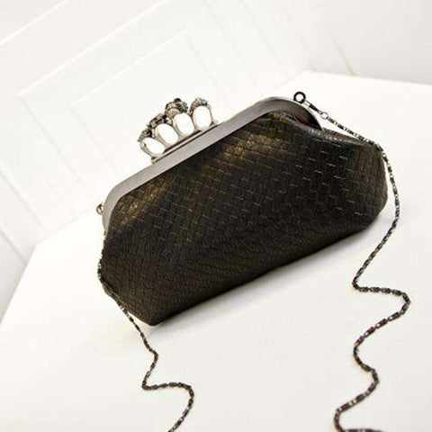 Handbag Woven Bag Skull Ring Chain Bag
