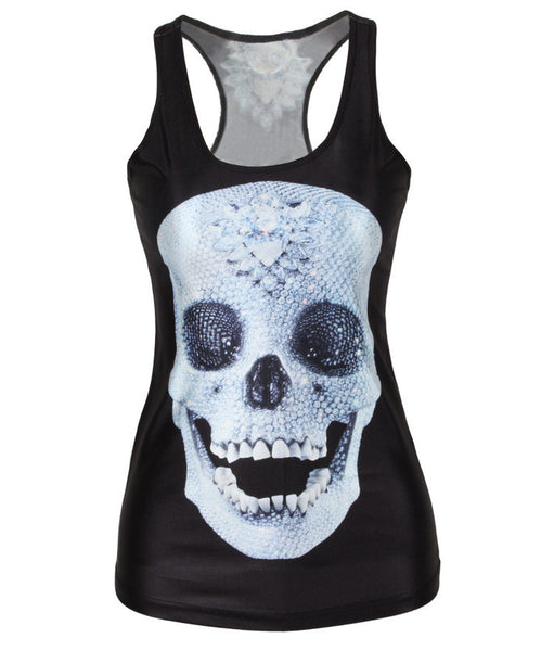 Women Slim Sleeveless Tank Tops Print