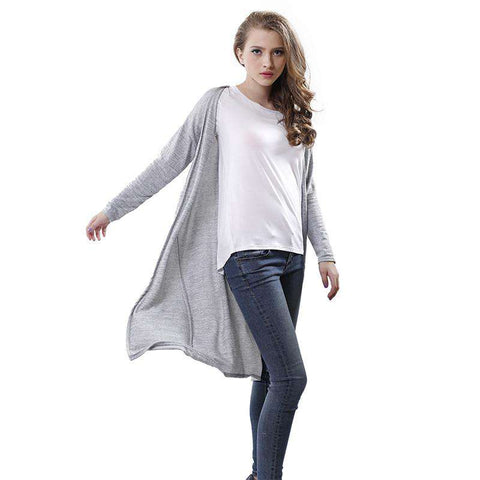Long-Sleeve Tops Women Long Sweaters Cardigans