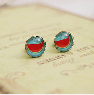 Woman fashion Earrings Cute Retro Vintage