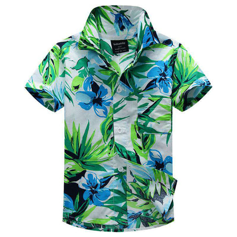 New Arrival Kids Floral Hawaiian Aloha Shirt