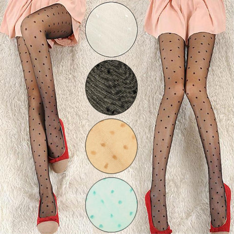 Stockings Sexy Lace Pantyhose Sweet Women Dot Pattern Tights