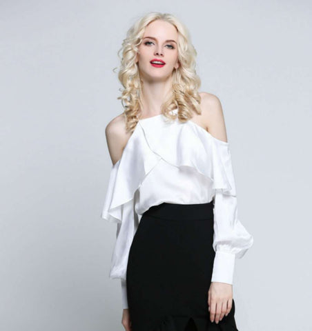 Blouse Sexy Off Shoulder Camis Female Shirt Fashion