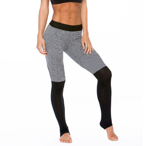 Stitching Striped Mesh Sport TIGHT