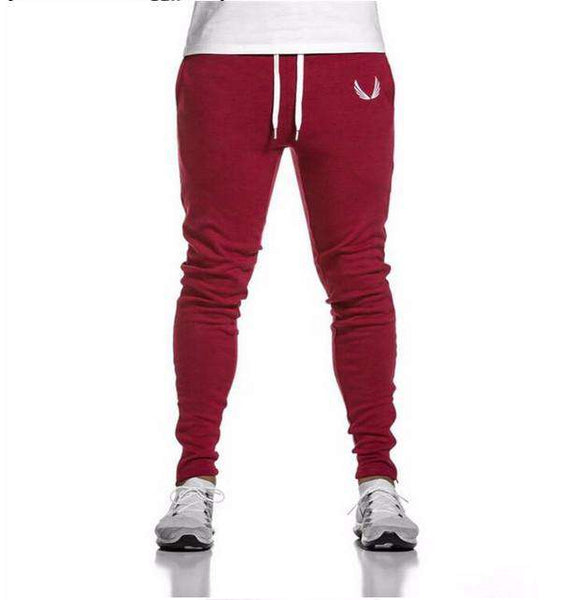 Mens Pants Brand Clothing Splice Cotton Trousers Fitness Jogger