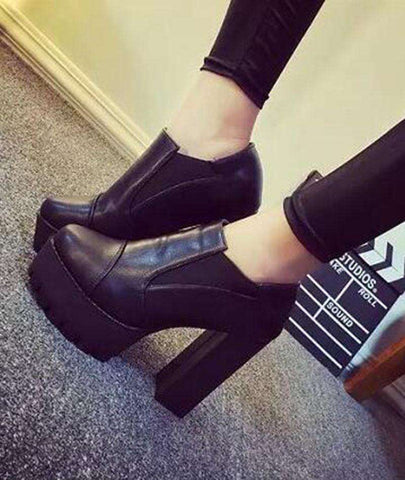 High Square Heeled Boots