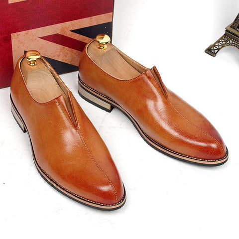 Men's Formal Genuine Leather Slip On Loafers Office Wear