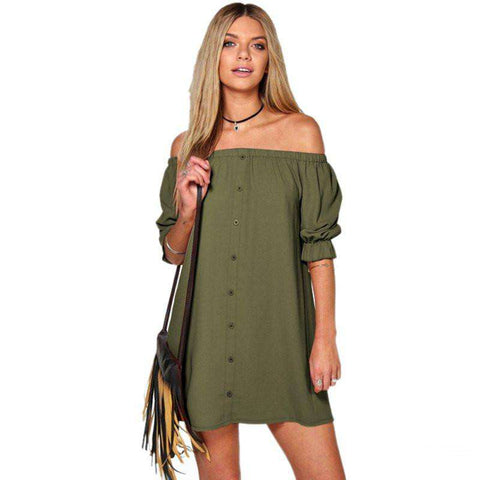 Dresses Sexy Off Shoulder Beach Dress Straight
