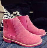 Women Suede Leather Ankle Boots