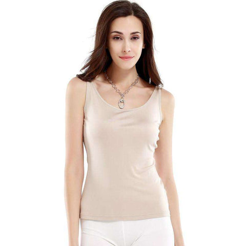 Casual Thin Round Neck Sleeveless Women Sling