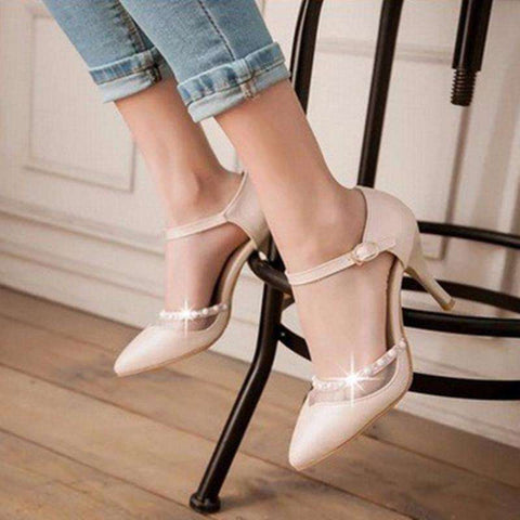 Rhinestone High Heeled Sandals Womens Pumps