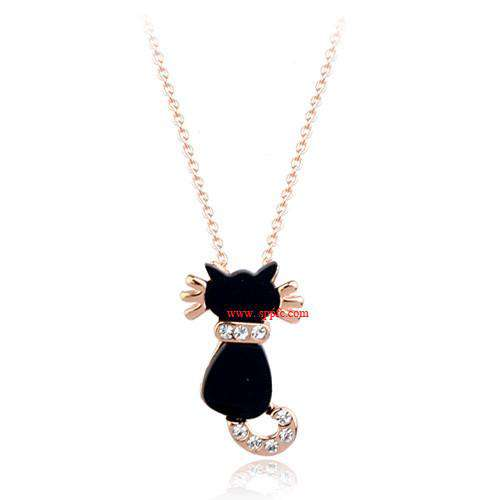 Woman Rose gold Plated Jewelry Crystal Pendant Necklaces