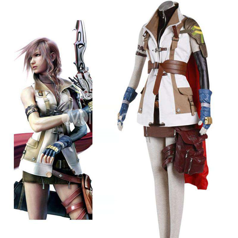 final fantasy xiii lightning cosplay halloween costume white
