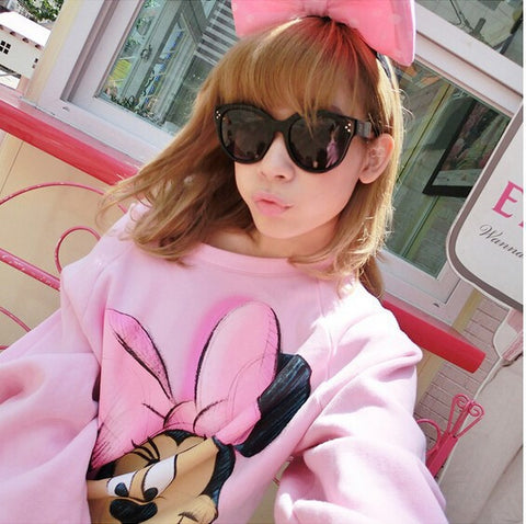 Women Spring and Autumn Hoodies Mickey Lovely