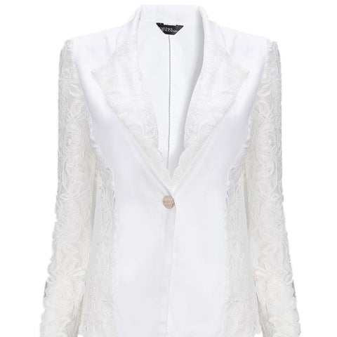 6e2e2f5bc3437 ... Women Spring Autumn Sheer Lace Floral Jackets