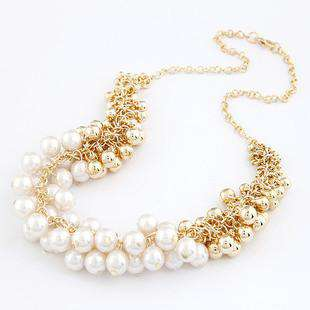Women Beauty Multilayers Simulated-pearl  Nacklaces & Pendants