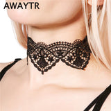 Vintage Wide Ribbon Handmade Neckless Jewelry Collar Nacklace For Women