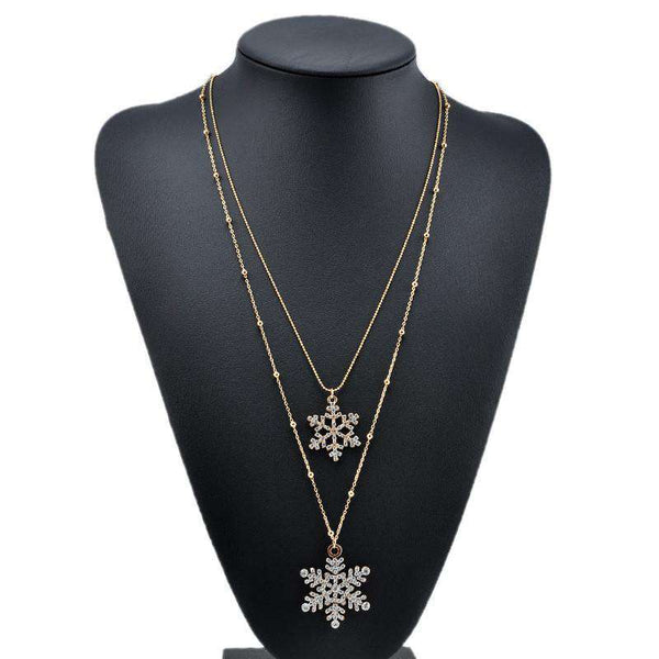 Pendant Long Chain Sweater Chain Double Layers Necklace
