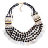 Vintage Layered Necklace For Women Tribal Bib Statement Shell Jewelry