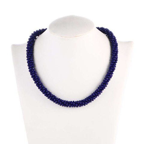 Necklace Choker Handmade Crystal Beads Fashion