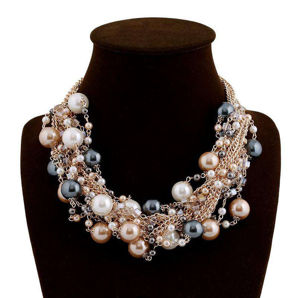 Fashion Beautiful Delicate Occident Multi-layer Pearl Necklace