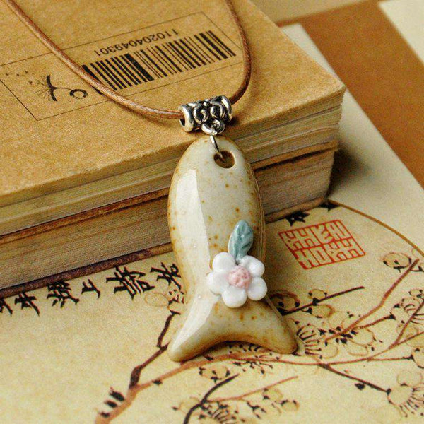 Handmade Fish Pendant Classic Women Choker Necklace