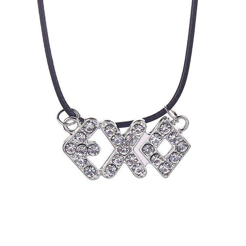 Crystal Trendy Letter Necklaces Geometric Pendant