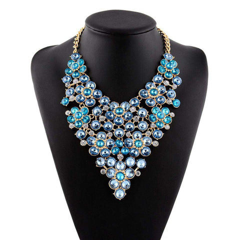 Crystal Choker Collar Bridal Statement Necklace