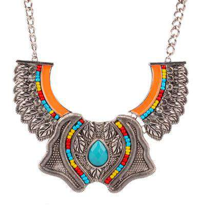 Big Crystal Statement Chunky Necklace