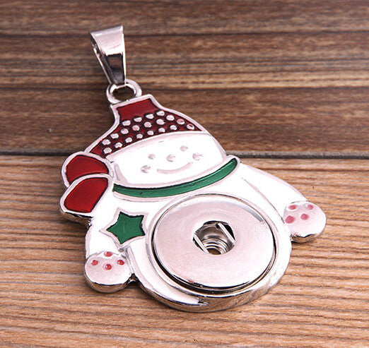 Snowman Lock Snap Pendant for Women