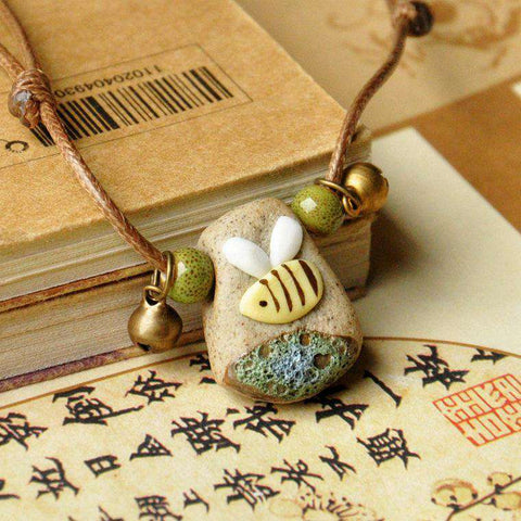 Draw Art Beads Elegant Pendants Women
