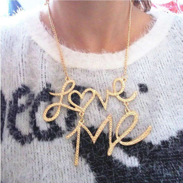 Pendant Necklace Winter Sweater Chain Gold Long Chain