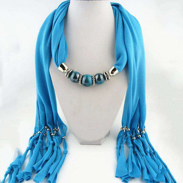 Choker Circle Collar Woman Necklace Short Scarf Chain