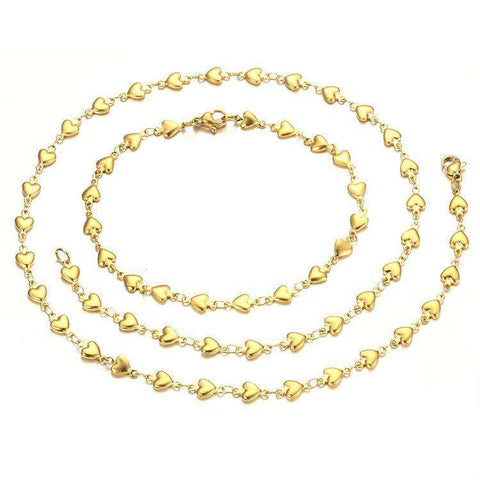 24K Gold Plated Jewelry Gold Necklace For Women