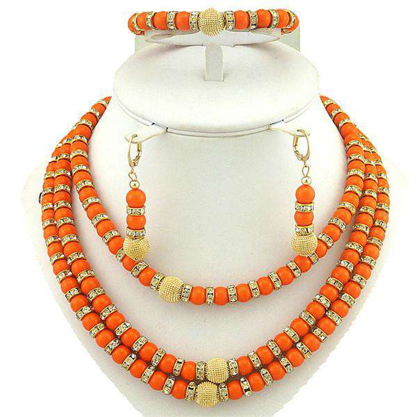 African Gold Fashion Jewelry Sets