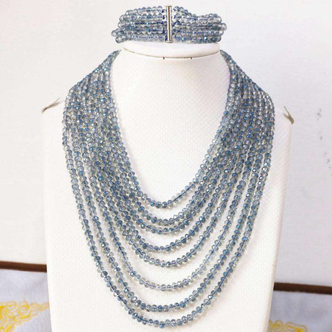Crystal Glass Beads Fashion Jewelry Set