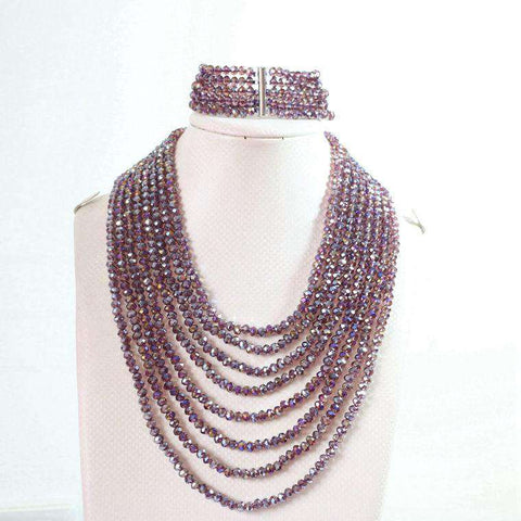 Crystal Glass Beads Jewelry Set