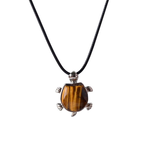 Amethyst Tiger Eye Agate Opal Crystal Quartz Pendant Necklace