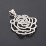 Shimmering Rose Necklace Pendants accessory