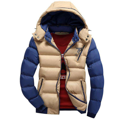 Jacket Men Cotton Padded Windproof Warm