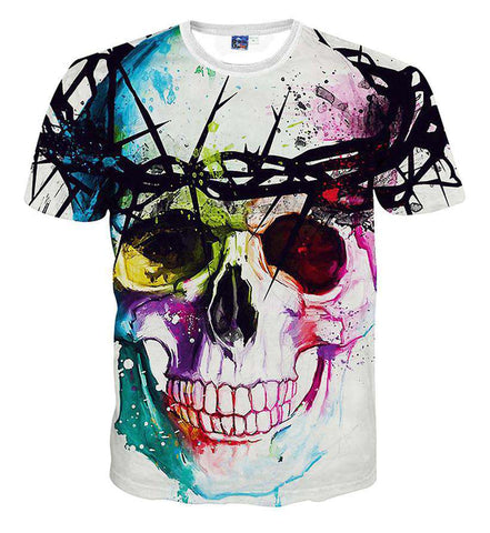 men Crew neck print 3d t shirt fashion tie-dye t-shirt