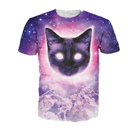 3D Galaxy Themed Printed T shirt Men
