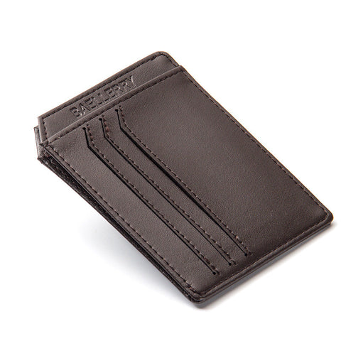 Slim PU Leather Men Wallets Designer Brand Credit Card