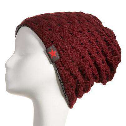 Knitted Hat Reversible Beanie Unisex
