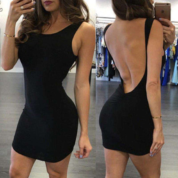 Off Shoulder Sexy Sleeveless Mini Club Dress