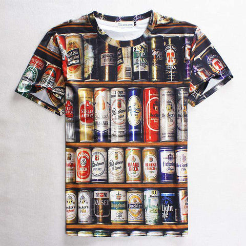 men 3d t-shirts casual vintage